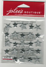 Jolee's SILVER STAR REPEATS 3D Stickers Christmas