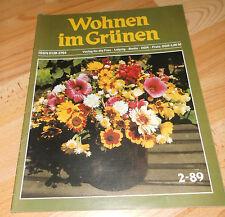 DDR  Wohnen im Grünen Zeitschrift  2 /1989