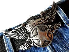 Eagle Adler Biker Star Estrella de Plata adorno en la cintura de cambio hebilla Buckle 4cm