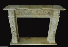 Camino in Pietra Travertino Interior Classic Design Stone Fireplace Stile Impero