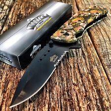 MASTER BALLISTIC TACTICAL Spring Assisted Open Pocket Knife SKULL CAMO Bright!