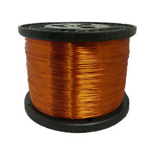 "30 AWG Gauge Enameled Copper Magnet Wire 5.0 lbs 15681' Length 0.0114"" 200C Nat"