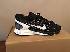 Nike Lunarglide 7 Negro Y Blanco Hombre Correr Entrenadores UK9.5
