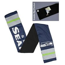 Seattle Seahawks Jersey Material Neck Scarf NEW - Lined with fleece
