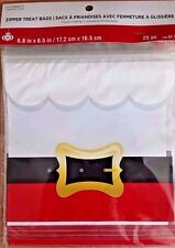 Celebrate It CHRISTMAS - SANTA'S BELT Zipper Treat Bags - 25ct