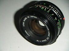 Nice Clean Canon FD Mount 50mm f1.8 Prime Lens