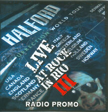 Rare Halford - Live at Rock in Rio III Radio Promo CD Promotional Rob MINT