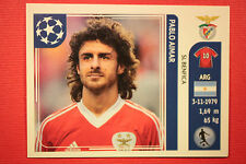PANINI CHAMPIONS LEAGUE 2011/12 N 169 PABLO AIMAR BENFICA WITH BLACK BACK MINT!