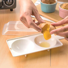 Microwave Oven Two Egg Poacher Sandwich Breakfast Instant Cooker Kitchen Tool SY