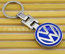 VW  Volkswagen  Round Logo METAL KEY CHAIN RING Keyring Blue