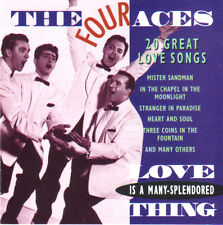 "THE FOUR ACES ""20 Great Love Songs""  New Factory Sealed Import CD"