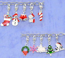 20Mixed Christmas Clip On Charms. Fit Chain Bracelet