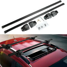 "Universal 48"" 120cm Kayak Luggage Carrier Car Top Roof Rack Steel Cross Bars Set"