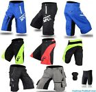 MTB Off Road Cycling shorts De-Attachable Inner Liner short Coolmax® Padded