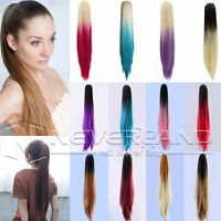 50CM Clip In Pony Tail Hair Extensions Claw On Ombre Ponytail Hair Extensions