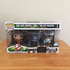 Funko 3 Pack Exclusive - The Gate Keeper / Zuul / The Key Master - Sealed in Box