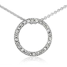 Crystal Open Circle Neckalce with Swarovski Elements