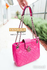 BNWT RRP$189 GUESS ALIZA 2Way Satchel Shoulder Bag Chain Pink Flamingo