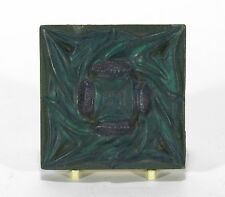 Rookwood Pottery Architectural Faience Tile Arts & Crafts matte blue thistles