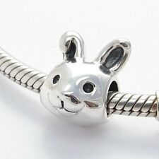 FUNNY BUNNY RABBIT CHARM Bead Sterling Silver.925 For European Bracelet 646