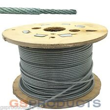 250 Meters of 2-3mm CLEAR PVC Coated Steel Wire Rope 6x7 FREE P+P