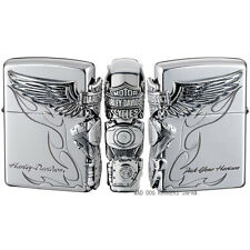 Zippo Oil Lighter Harley Davidson Japan Limited Engine Wing Flame HDP-26  F/S