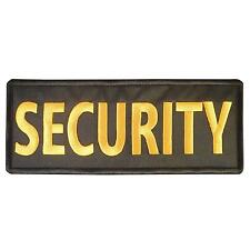 SECURITY Big XL 10x4 inch embroidered embroidery bulletproof vest hook patch