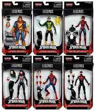 MARVEL LEGENDS SPIDER-MAN SERIES BAF SPACE VENOM COMPLETE SET OF 6