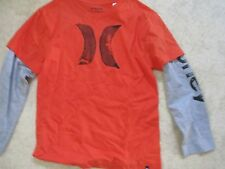 Hurley Shirt Long Sleeve Orange with Gray Sleeves size SPP
