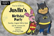 Pooh_Piglet Invite Template/Customization To Meet Your Needs/BDay/Baby Shower