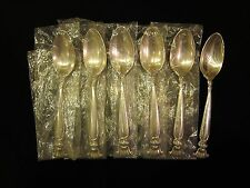 """NIP Wallace Romance of The Sea Sterling Silver 6"""" Teaspoons Set of 6"""