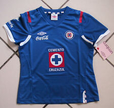 Team Cruz Azul Womens Official Soccer Blue Local  Jersey Umbro Size G  2012