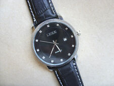 Very Smart Black and Crystal Faced Quartz Watch Black Strap
