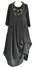 FAB GERMAN ZEDD.PLUS quirky/lagenlook BLACK  parachute dress XXL/XXXL