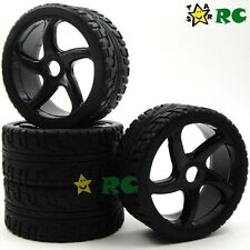 4pcs NEW 1/8 RC Off-Road On-Road Buggy Soft Tires Tyres & Hex 17mm Wheels Rims