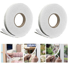 2x5m Foam Draught Excluder Tape Draft Weather Seal Strip Insulation Door Window