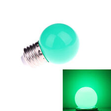 Mini Colorful 1W E27 AC 220V LED Light Round Lamp Globe Golf Bulb Green Color ST