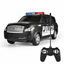 RC Police Car Remote Control Police Car Radio Control Police LED Lights Toys New
