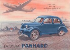 Panhard Dyna 1947-48 Original FRENCH Market Foldout Sales Brochure Saloon & Van