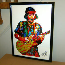 Carlos Santana, Guitar, Guitarist, Latin Rock, Blues Rock, 18x24 POSTER w/COA