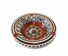 Vintage Signed Foreign Ceramic Ornate Ash Tray Gorgeous