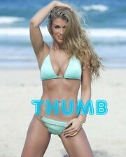 Amy Willerton - 10x8 inch Photograph #021 in Skimpy Blue Bikini on the Beach