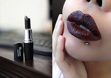 Black Gothic Vampire Cosplay Style Waterproof Long Lasting Lip Gloss Lipstick