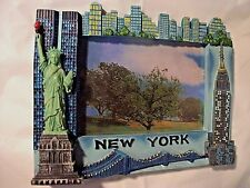 """New York 3D Picture Frame Souvenir Statue of Liberty 3"""" x 4 1/4"""" FREE Shipn NEW"""