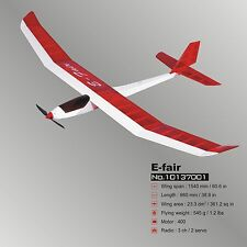 "Glider E-Fair (60.6"") ARF Electric RC Airplane Balsa Wood Model Plane"