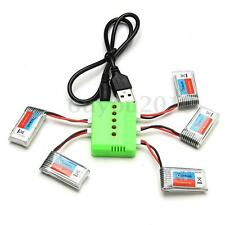 5pcs Eachine H8 Mini H8 3D Battery 3.7V 260mAh RC Quadcopter Spare Parts+Charger