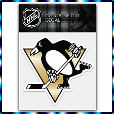 "Pittsburgh Penguins NHL Die Cut Vinyl Sticker Car Bumper Window 4""x4"""
