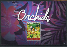 Gambia 2015 MNH Orchids 1v S/S Flowers Flora