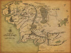 Framed Vintage Style Print of Middle Earth Map (Lord of the Rings DVD Blu-Ray)