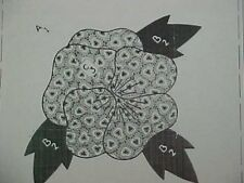 Vintage Quilt Pattern Mail Order Classic Pansy Applique 1930s Alice Brooks